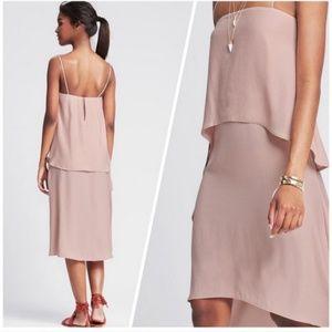 Banana Republic pink hi low dress